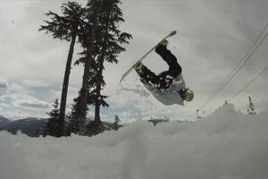 滑雪单板视频教程:前空翻