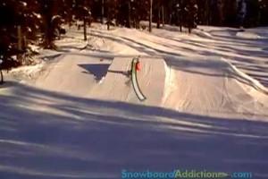 单板滑雪教程:内转360 Backside 360