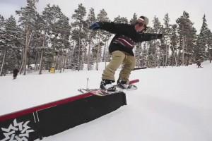 Denis Leontyev的障碍滑雪