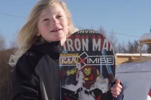 八岁神童完成双后空翻 : 新单板滑雪记录?